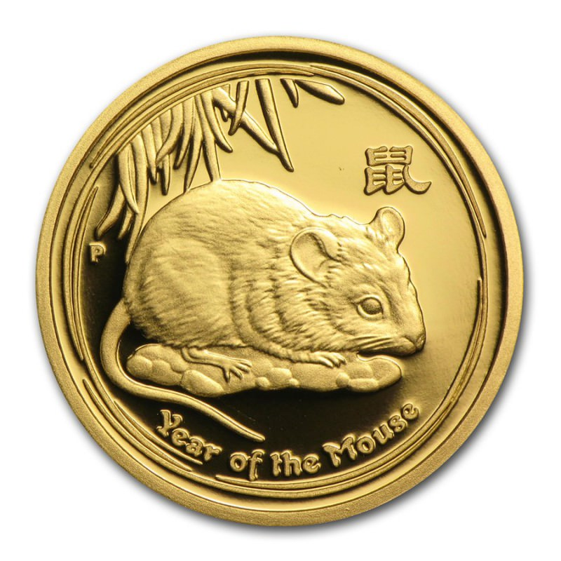 1 10 Oz Gold Lunar Series Ii 2008 Year Of The Mouse Proof