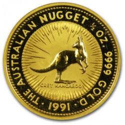 1/2 oz gold NUGGET 1991 GREY KANGAROO