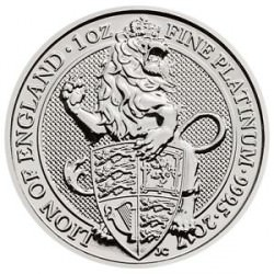 1 oz PLATINIUM PLATINUM QUEEN'S BEAST £100 LION of ENGLAND