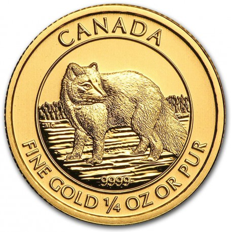 1/4 oz gold POLAR FOX 2014