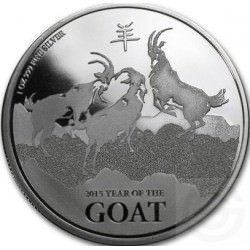 1 oz silver GOAT NEW ZEALAND NIUE 2015