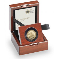Gold Pistrucci 200th Anniversary Full Sovereign 2017 Proof ( Box & COA)