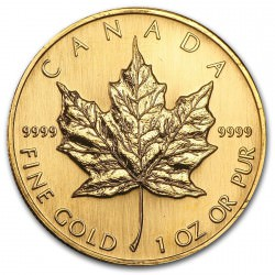 1 oz gold MAPLE LEAF 1996