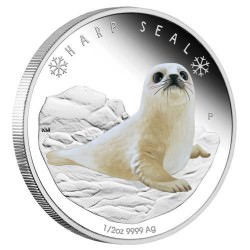 2017 Polar Harp Seal 1/2oz Silver Proof Coin