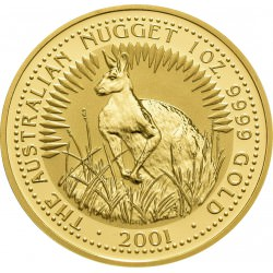1 oz gold NUGGET 2001