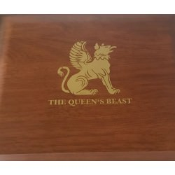 1/4 oz gold QUEEN'S BEAST SERIES CASE
