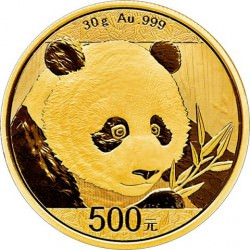 Gold CHINA PANDA 30 GR 2017