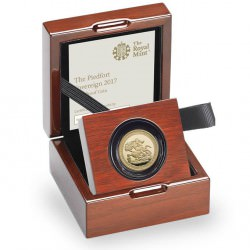 The Sovereign 2017 Piedfort Anniversary Piece 1/2 oz gold