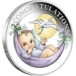 Newborn 2018 1/2oz Silver Proof Coin GEBOORTE geschenk