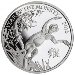 1 oz argent UK LUNAR MONKEY 2016