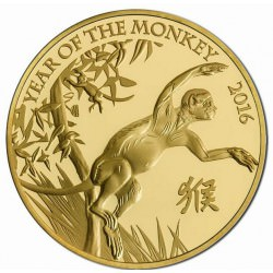 1 oz gold U.K. MONKEY 2016