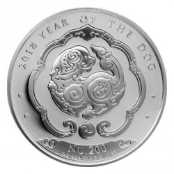 1 oz silver KINGDOM OF BHUTAN 2018 DOG