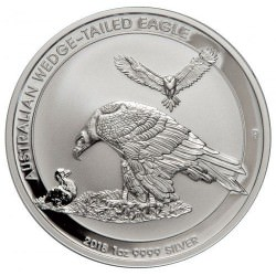 1 oz silver Perth Mint $1 WEDGE-TAILED EAGLE 2018
