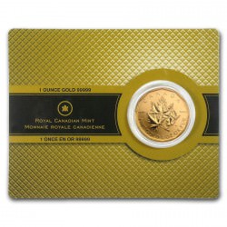 GOLD .99999 Maple Leaf 1 oz 2007 essay card