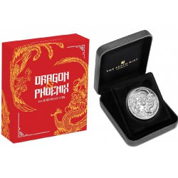 1 oz silver DRAGON & PHOENIX 2018 PROOF box + coa