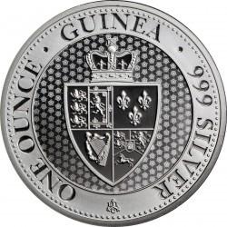 * 1 oz silver THE SPADE GUINEA 2018 EAST INDIAN COMPANY £1