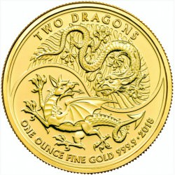 1 oz GOLD 2 DRAGONS 2018 U.K. £100