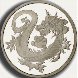 1 oz RHODIUM DRAGON TUVALU $100