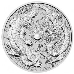 1 oz silver DRAGON & TIGER 2018
