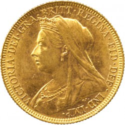FULL GOLD SOVEREIGN 1896