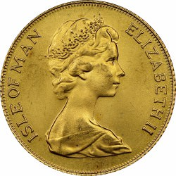 FULL GOLD SOVEREIGN 1977 Isle Of Man