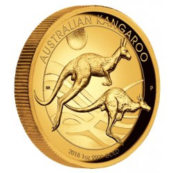 Australian Kangaroo 2018 1oz Gold Proof High Relief Coin - Mintage 500