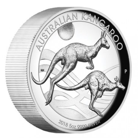 Australian Kangaroo 2018 5oz Silver Proof High Relief Coin