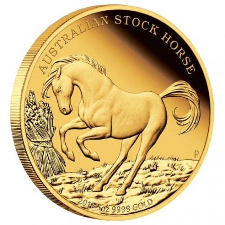 Stock Horse 2018 5oz Gold Proof Coin - Mintage 75