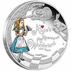 Alice's Adventures in Wonderland 2015 1oz Silver Proof Coin 150th Anniversary