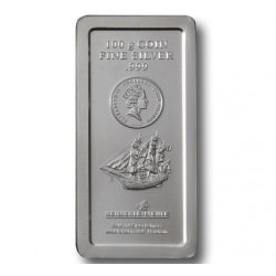 100 gr SILVER BAR BOUNTY MINTED