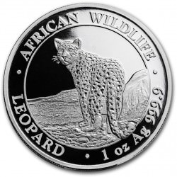 1 oz silver SOMALIA LEOPARD 2018 - 100 shillings 1st of new series