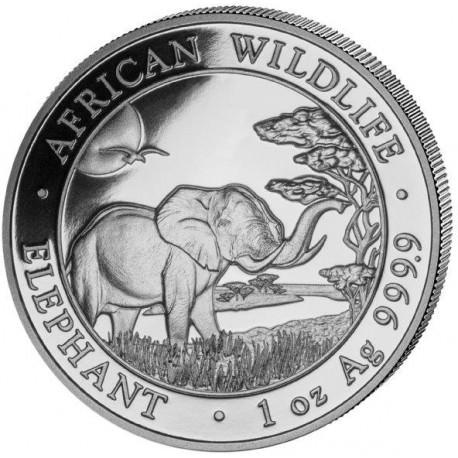 1 oz silver SOMALIA ELEPHANT 2018