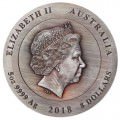 Rare Earth 2018 5oz Silver High Relief Patina Coin