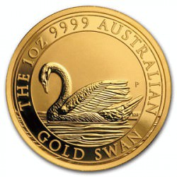 1 oz GOLD SWAN 2017 Perth Mint