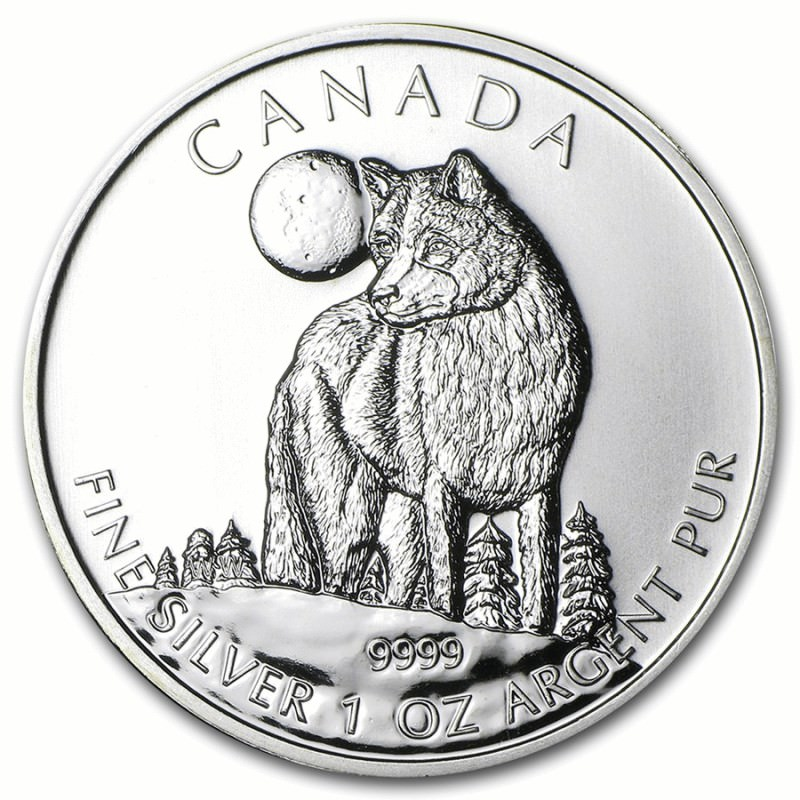 1 Oz Silver Maple Leaf 2011 Wolf Goldsilver Be