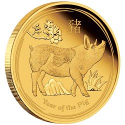 Australian Lunar Series II 2019 Year of the Pig 1/10 oz Gold Proof Coin