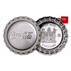 Perth Mint Coca Cola Bottle Cap 2018 1 oz gram Silver Proof Coin $2