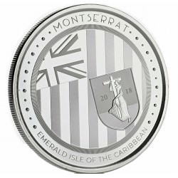 1 oz silver MONTSERRAT 2018 Eastern Caribbean N°5 / 8
