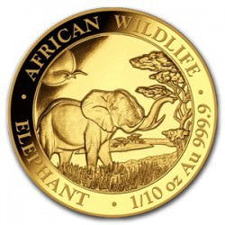 GOLD 1/10 oz ELEPHANT 2019 SOMALIA
