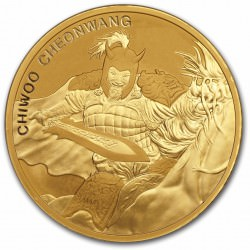 1 oz GOLD 2016 SOUTH KOREA CHIWOO CHEONWANG