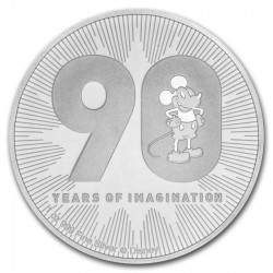 1 oz silver DISNEY 90th anniversary MICKEY 2018