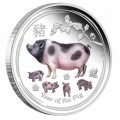 Australian Lunar Series II 2019 Year of the Pig Silver Proof Coins