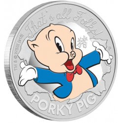 LOONEY TUNES - PORKY PIG 2019 1oz Silver Proof Coin