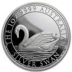 1 oz silver SWAN 2017 Proof Box + coa