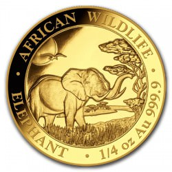 GOLD 1/4 oz ELEPHANT 2019 SOMALIA