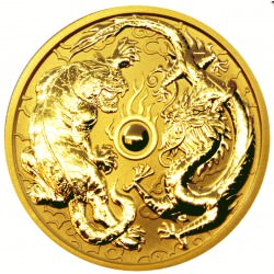 1 oz GOLD DRAGON & TIGER 2019