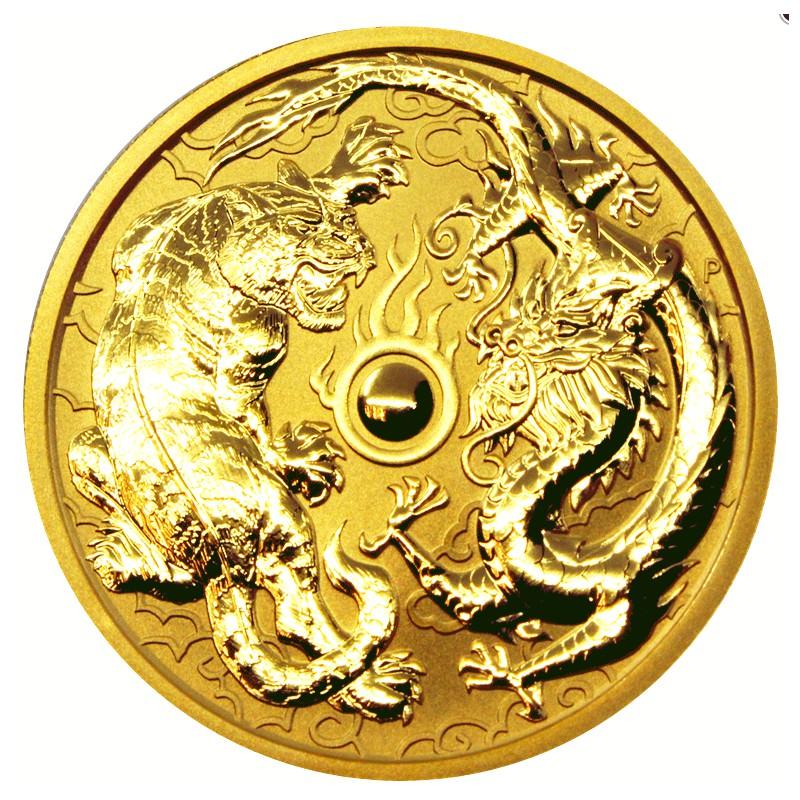 1 Oz Gold Dragon Tiger 2019