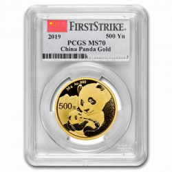 Gold CHINA PANDA 30 GR 2019 PCGS MS-70 FS