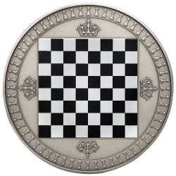 2 oz silver CHESS BOARD coin 2018