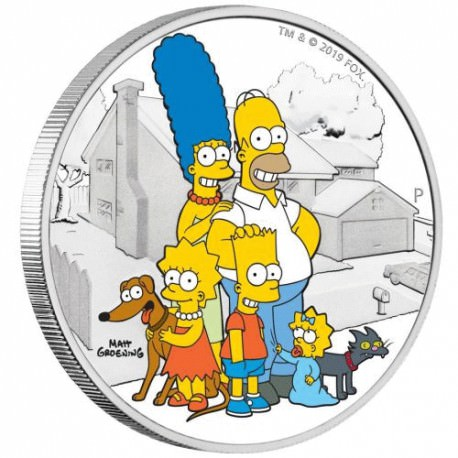 The Simpson Family 2019 2oz Silver Proof Coin